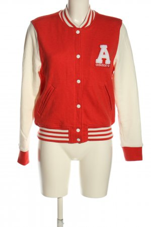 Adidas College jack wolwit-rood gestreept patroon casual uitstraling
