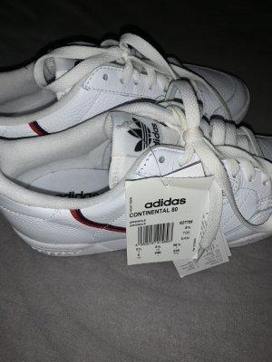 Adidas Zapatilla brogue blanco-rojo ladrillo