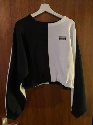 Adidas Sweatshirt blanc-noir