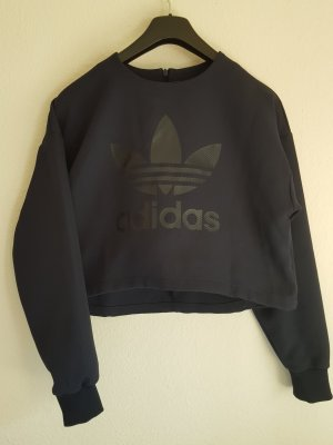 Adidas Originals Cropped Jumper black-dark blue