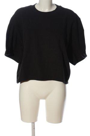 Adidas Cropped Shirt schwarz Schriftzug gedruckt Casual-Look