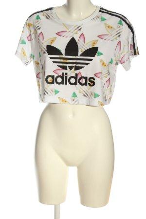 Adidas Camisa recortada estampado repetido sobre toda la superficie look casual