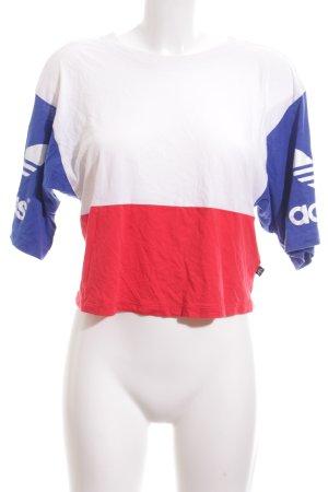 Adidas Cropped Shirt Schriftzug gedruckt Casual-Look