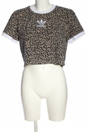 Adidas Cropped Shirt Allover-Druck Casual-Look