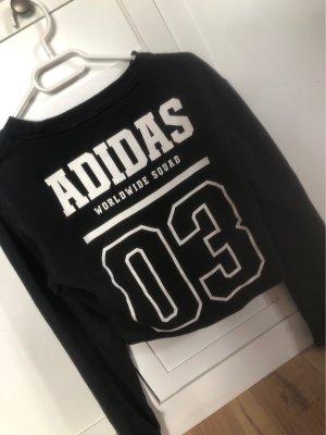 Adidas Bluza dresowa czarny-biały