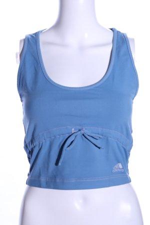 Adidas Cropped Top blau Motivdruck Casual-Look