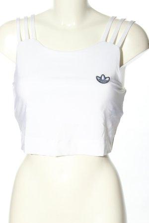 Adidas Top corto bianco stile casual