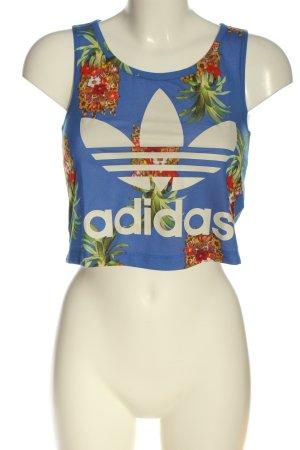 Adidas Cropped Top Blumenmuster sportlicher Stil