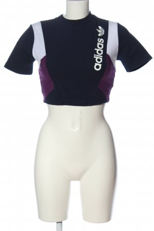 Adidas Cropped Top mehrfarbig Casual-Look