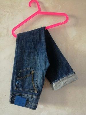 Adidas Dopasowane jeansy ciemnoniebieski