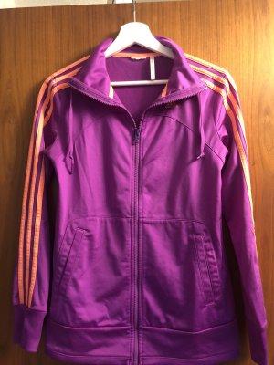 Adidas Chaqueta deportiva lila-naranja neón
