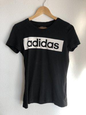 Adidas T-shirt biały-czarny
