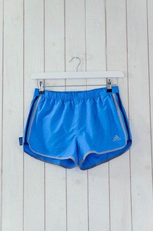ADIDAS Damen Shorts Running Sport Stretch Türkis Blau Polyester Innenhose Gr.34