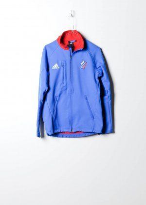 Adidas Damen Trainingsjacke in Blau