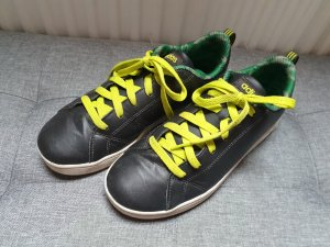 Adidas Damen Turnschuhe Sneaker Halbschuhe grau gelb Größe 37 (UK4)