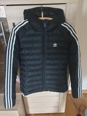 Adidas Donsjack wit-zwart