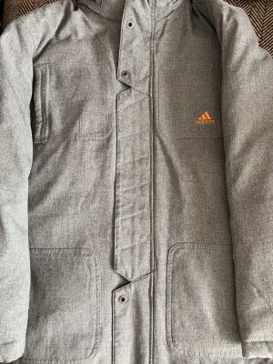 Adidas Down Coat light grey-orange