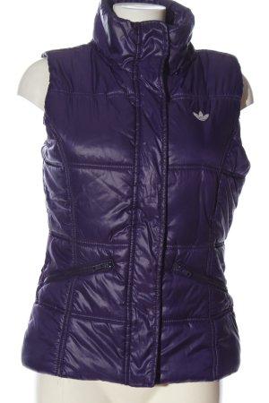 Adidas Piumino smanicato lilla motivo trapuntato stile casual