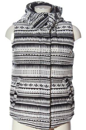 Adidas Donsvest wit-zwart volledige print casual uitstraling