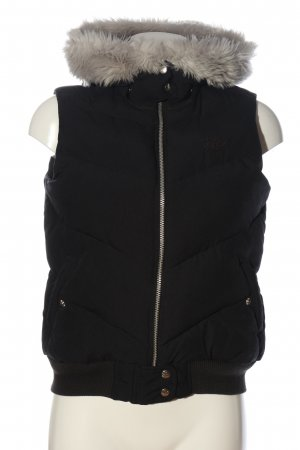 Adidas Down Vest black quilting pattern casual look