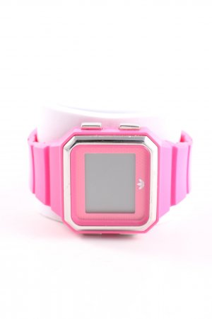 Adidas Digital Watch pink-silver-colored casual look