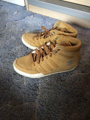 Adidas Basket à lacet brun-marron clair