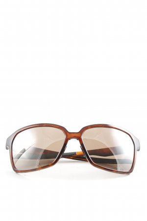 Adidas Angular Shaped Sunglasses brown casual look