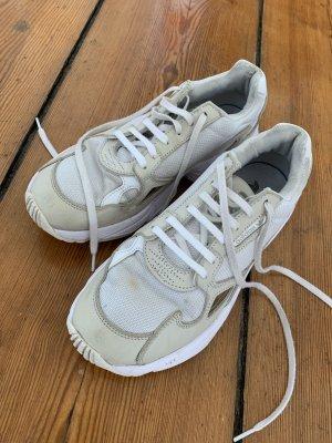 Adidas Sznurowane trampki biały-kremowy