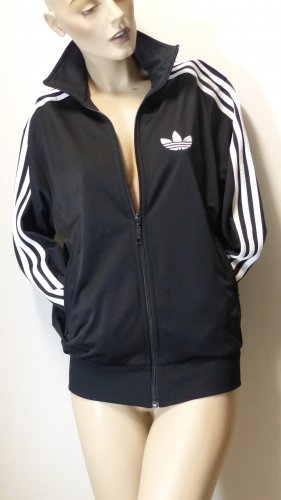 Adidas Sportjack zwart-wit Polyester