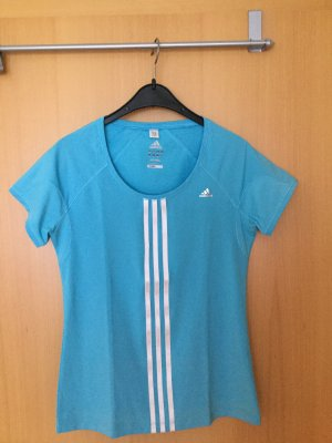 Adidas Koszulka sportowa baby blue Nylon