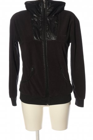 Adidas Giacca in pile nero stile casual