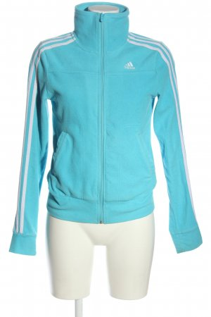 Adidas Fleece Jackets blue-white casual look