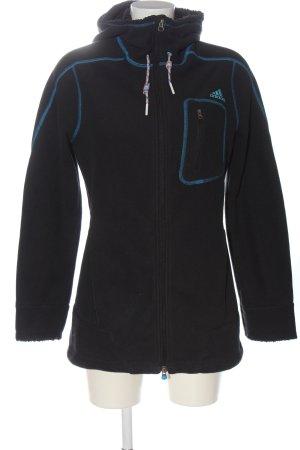 Adidas Veste polaire noir lettrage brodé style décontracté