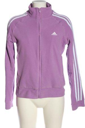Adidas Fleecejacke lila Casual-Look