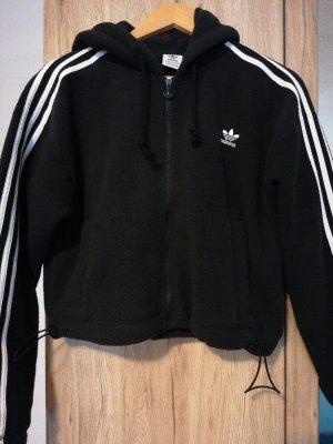 Adidas Kurtka polarowa biały-czarny