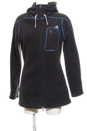 Adidas Fleece Jackets dark grey-blue casual look