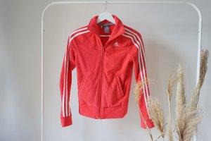 Adidas Fleecejacke pink weiß Sportjacke neon