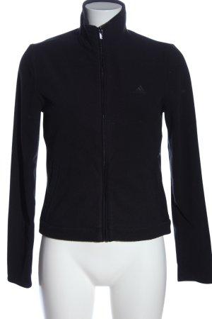 Adidas Polarowy sweter czarny W stylu casual
