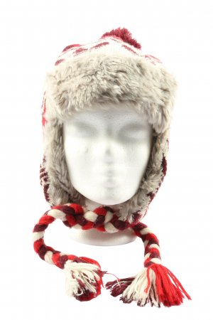 Adidas Aviator Hat natural white-red allover print casual look