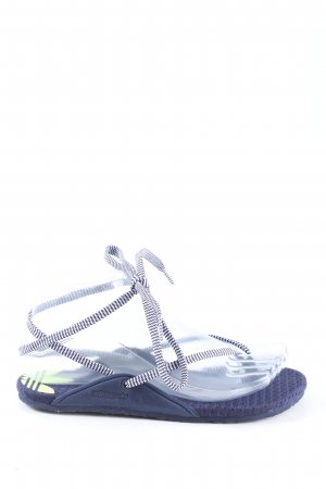 Adidas Flip-Flop Sandals lilac-white striped pattern casual look