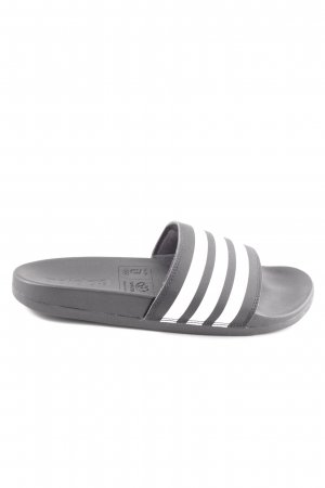 Adidas Beach Sandals black-white striped pattern casual look
