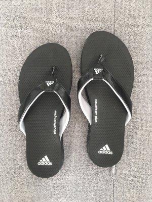 Adidas Chancla de baño blanco-negro