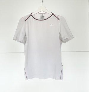 Adidas Basic topje wit-karmijn
