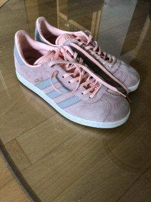 Adidas Sznurowane trampki różany-jasnoszary