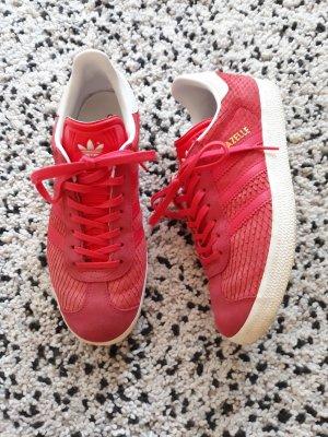 Adidas Gazelle rot Strukturleder Gr.38 2/3