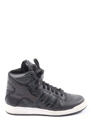 Adidas High Top Sneaker schwarz-hellgrau Casual-Look