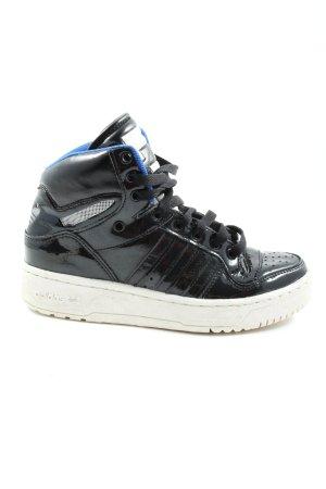 Adidas Wysokie trampki czarny W stylu casual