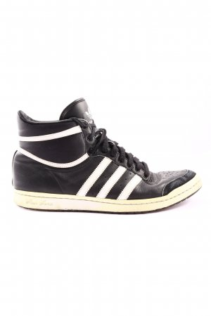 Adidas High Top Sneaker schwarz-wollweiß Casual-Look