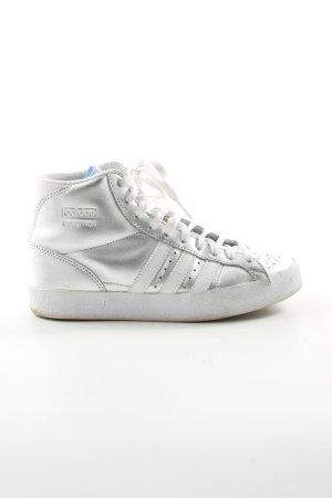 Adidas High Top Sneaker silberfarben Casual-Look
