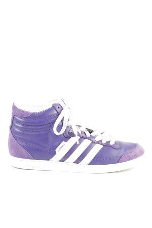 Adidas High Top Sneaker lila-weiß Casual-Look